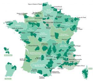 les 53 parcs naturels régionaux en france