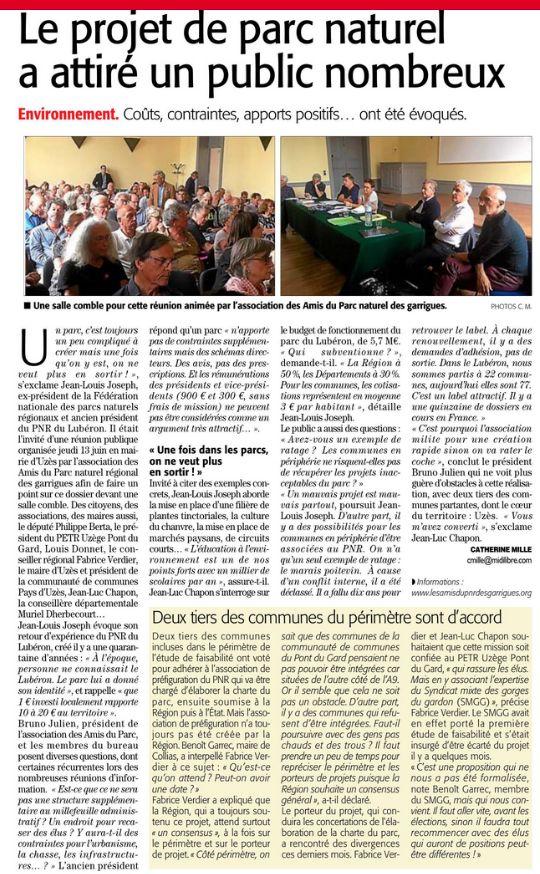 Article paru dans Midi Libre le 14/06/2019